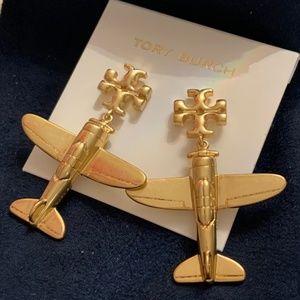 Tory Burch airplane earrings